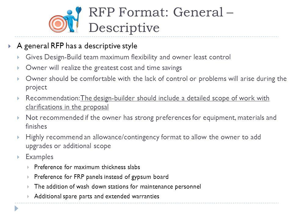 RFP Format: General – Descriptive