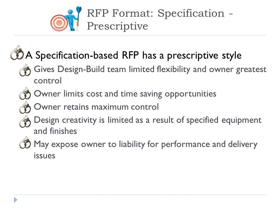 RFP Format: Specification - Prescriptive