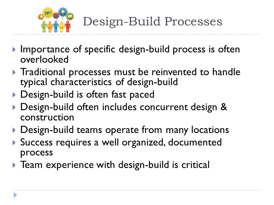 Design-Build Processes