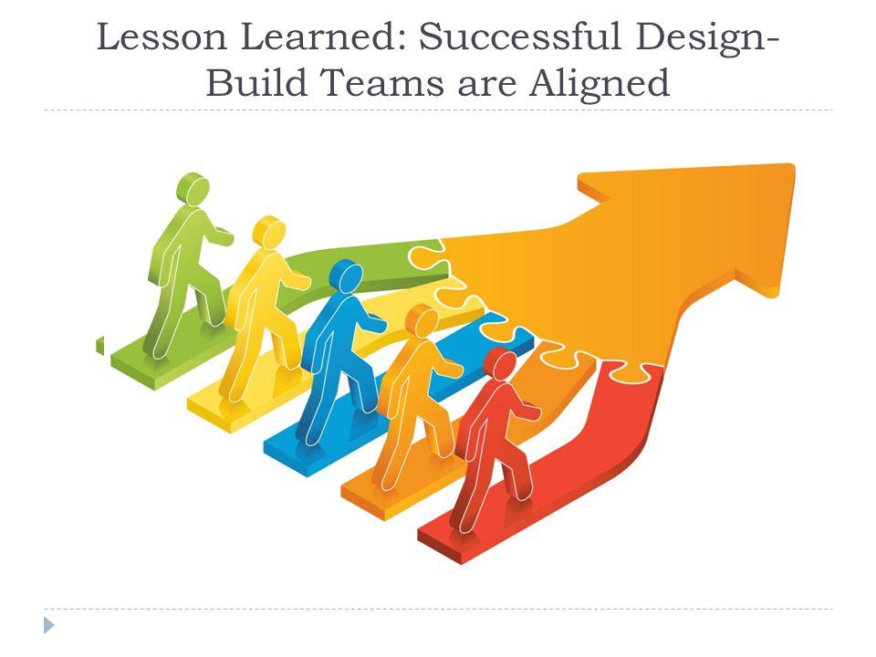 Lesson Learned: Successful Design-Build Teams are Aligned