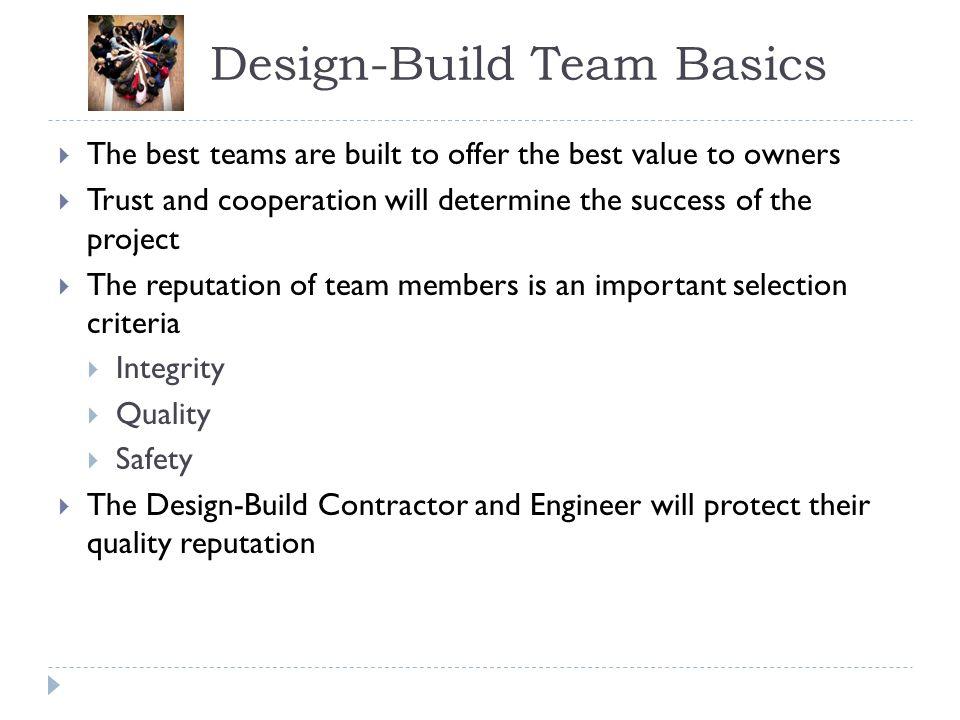 Design-Build Team Basics