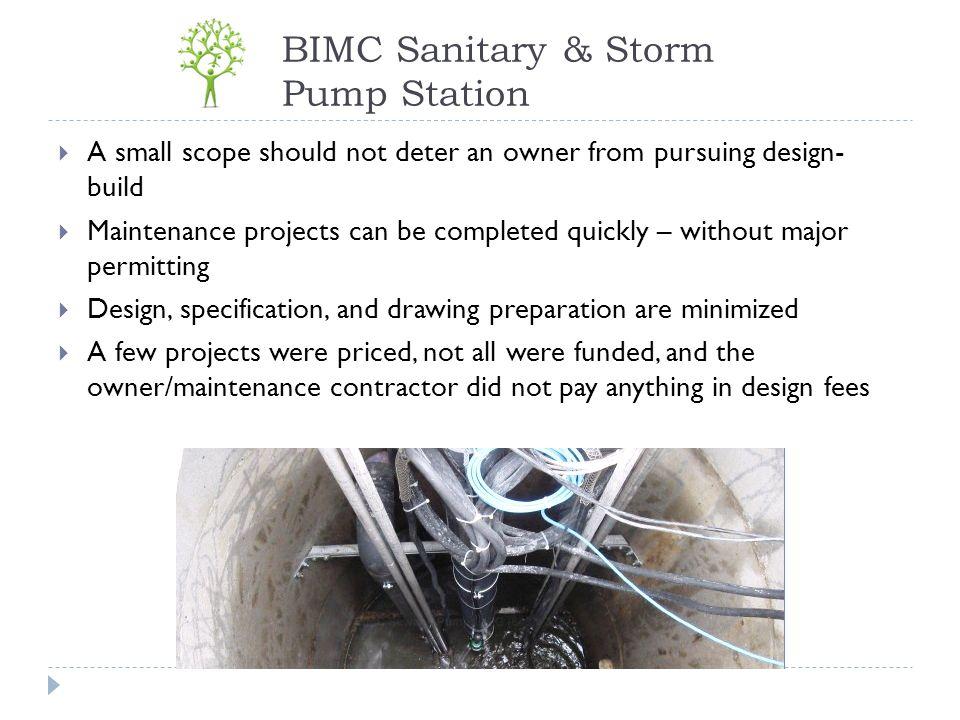 BIMC Sanitary & Storm Pump Station