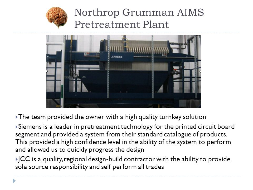 Northrop Grumman AIMS Pretreatment Plant