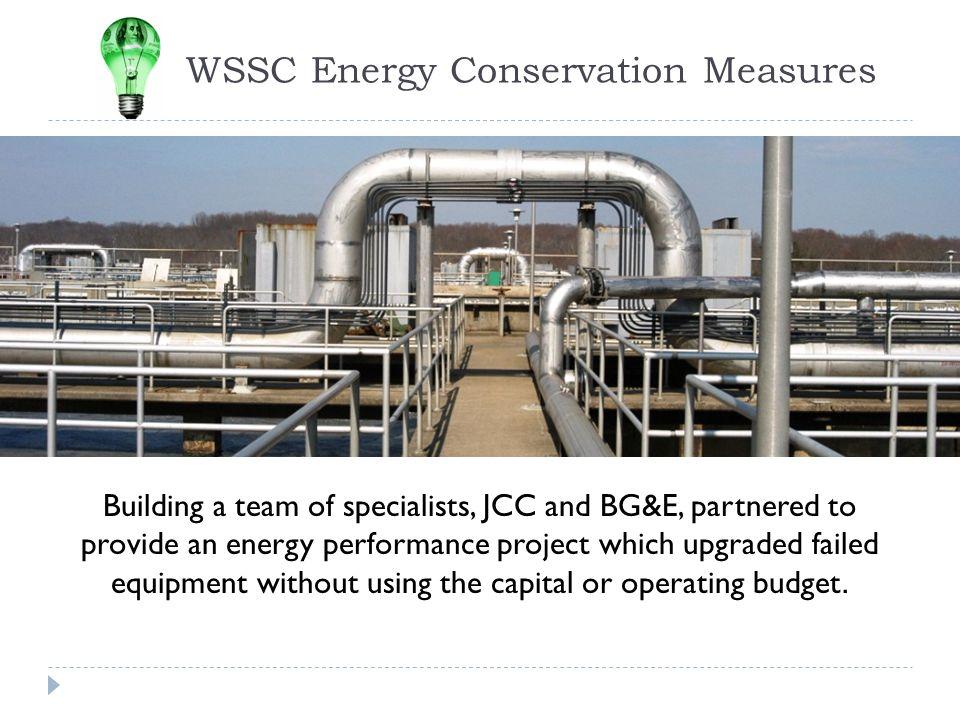 WSSC Energy Conservation Measures