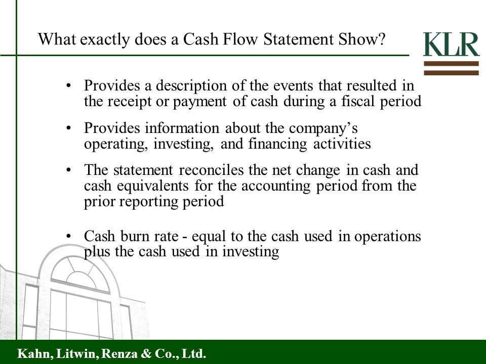 What exactly does a Cash Flow Statement Show