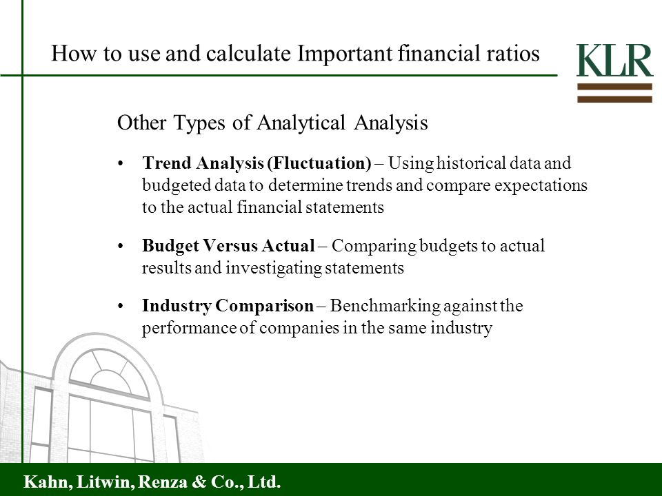 How to use and calculate Important financial ratios