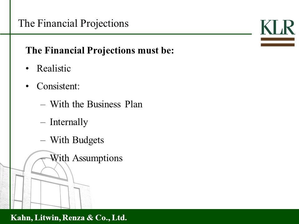 The Financial Projections