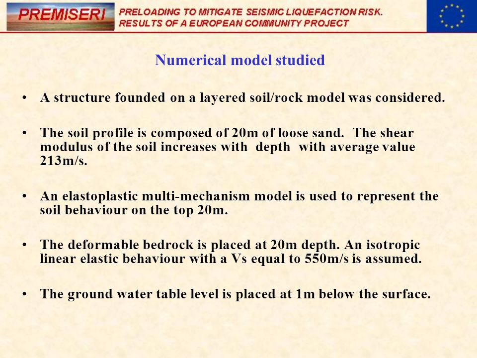 Numerical model studied