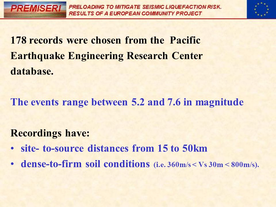 178 records were chosen from the Pacific