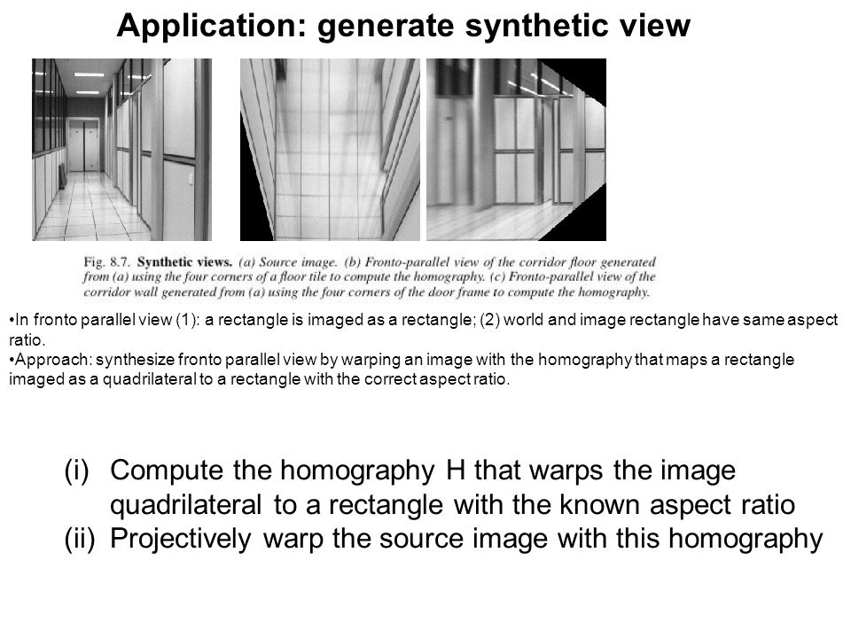 Application: generate synthetic view