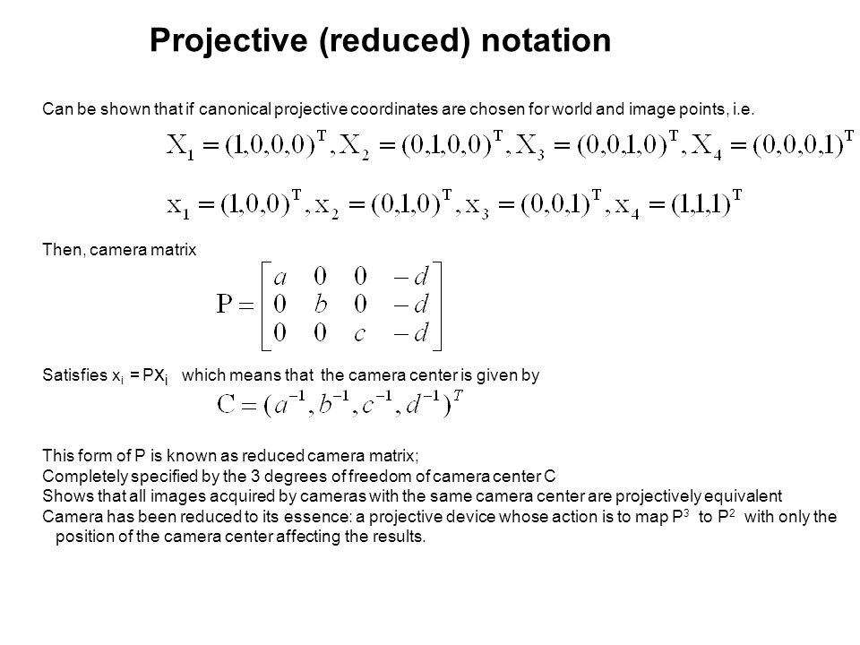 Projective (reduced) notation
