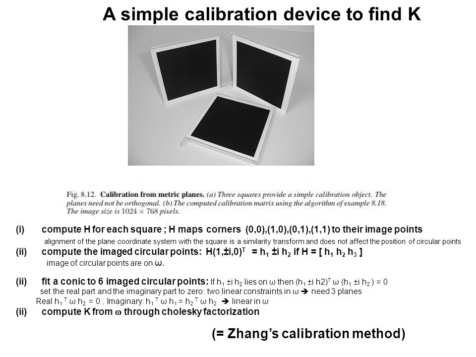 A simple calibration device to find K