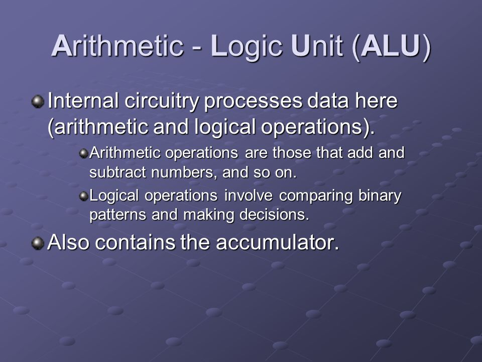Arithmetic - Logic Unit (ALU)
