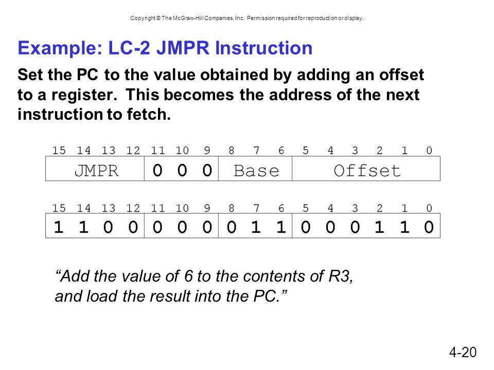 Example: LC-2 JMPR Instruction