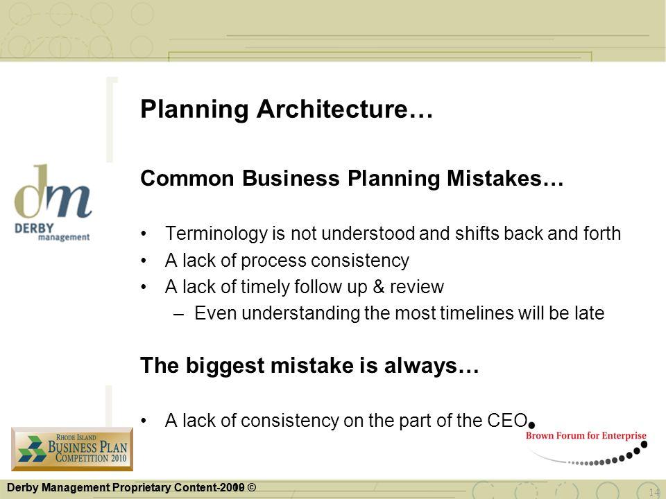 Planning Architecture…