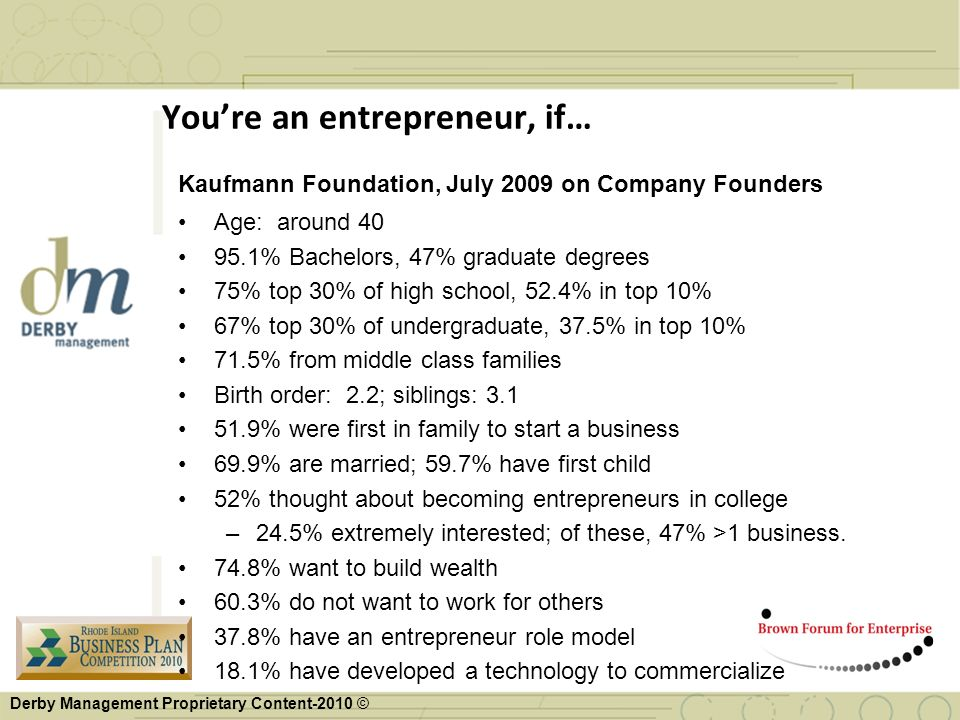 You're an entrepreneur, if…