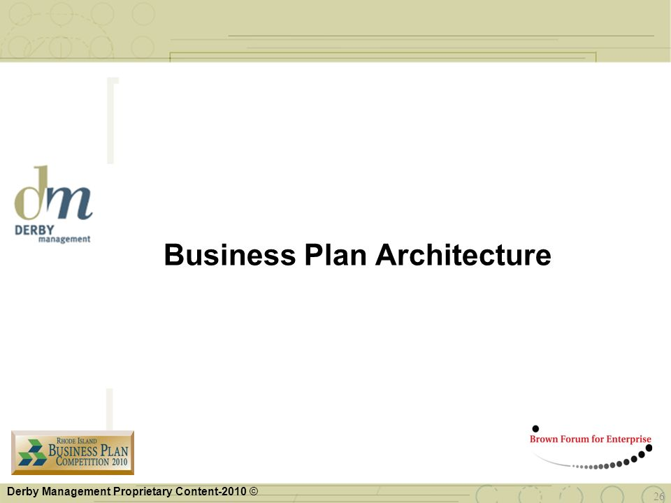 Business Plan Architecture