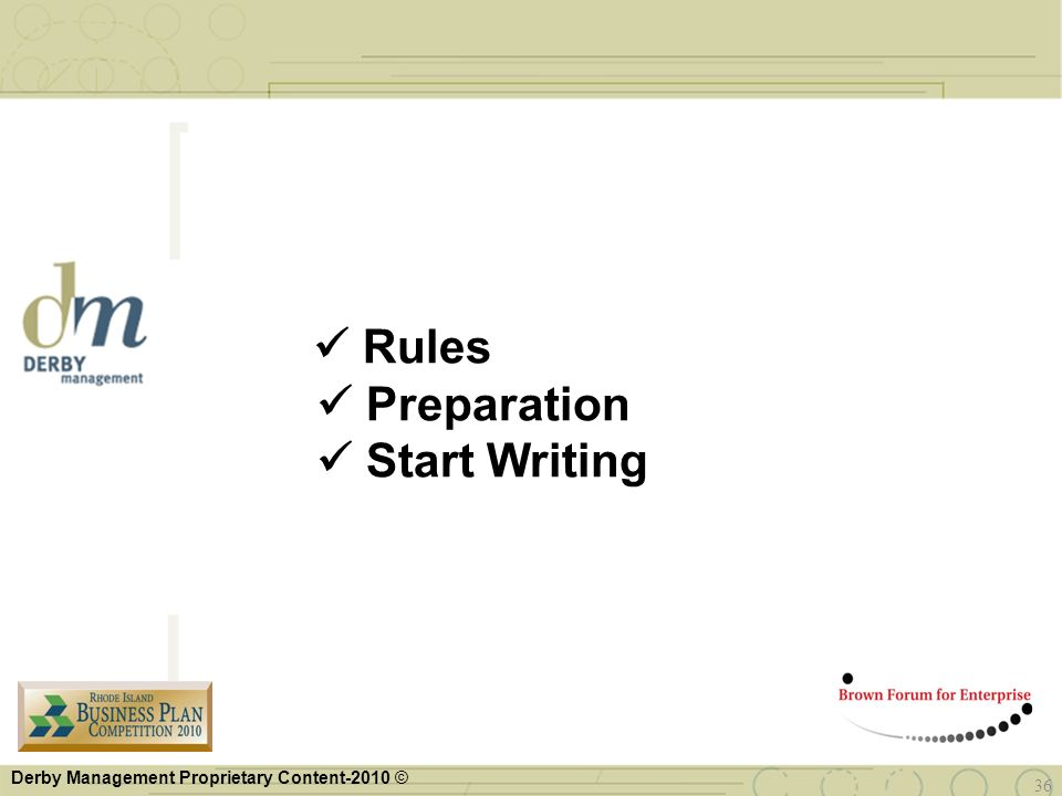  Rules  Preparation  Start Writing