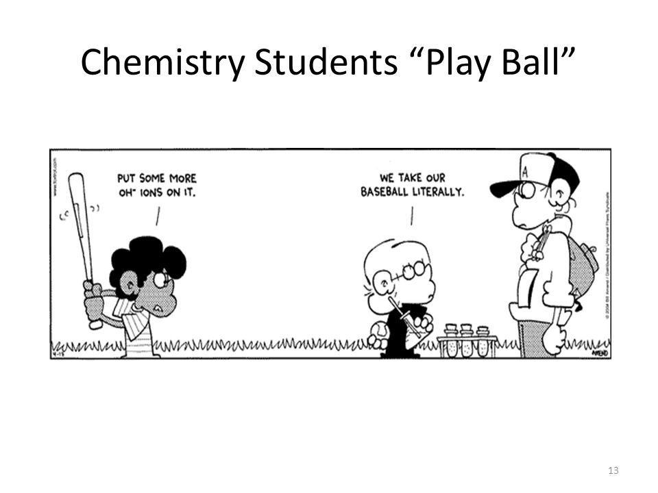 Chemistry Students Play Ball
