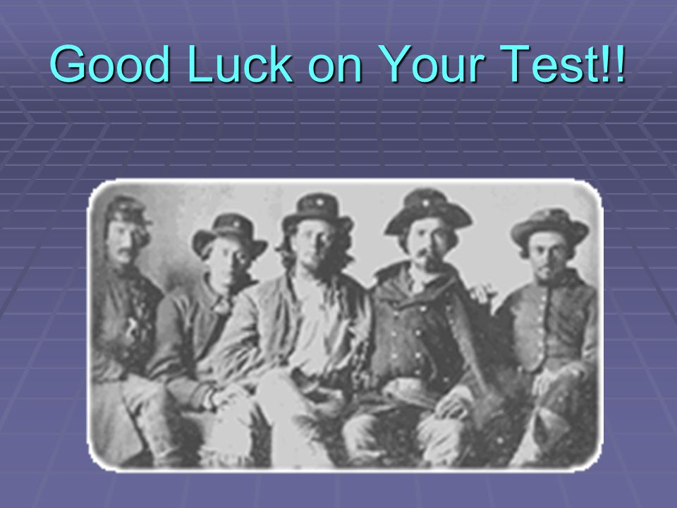 Good Luck on Your Test!!