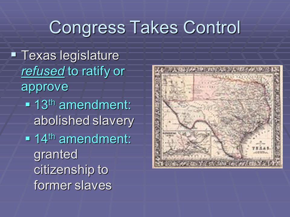 Congress Takes Control