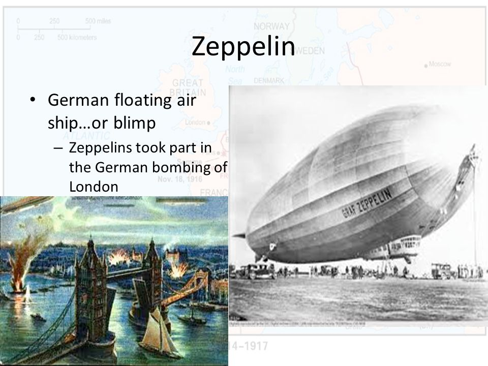 Zeppelin German floating air ship…or blimp