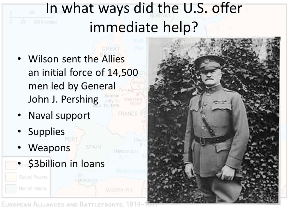 In what ways did the U.S. offer immediate help