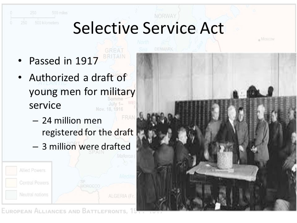 Selective Service Act Passed in 1917