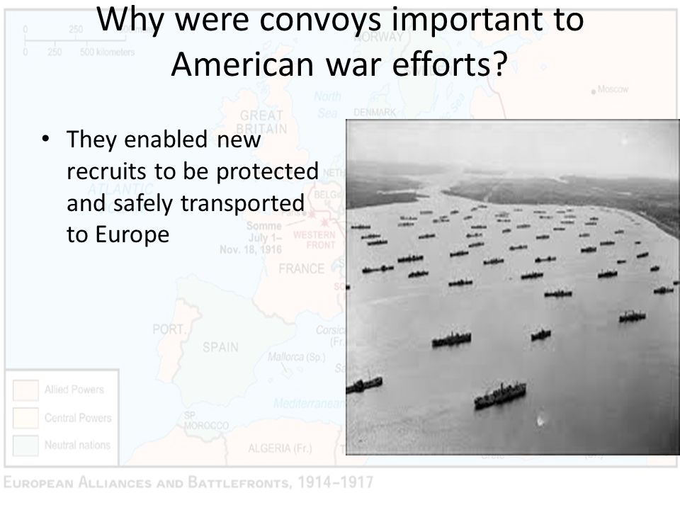 Why were convoys important to American war efforts