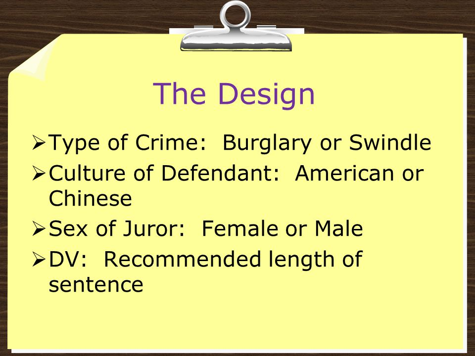 The Design Type of Crime: Burglary or Swindle