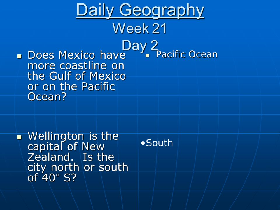Daily Geography Week 21 Day 2