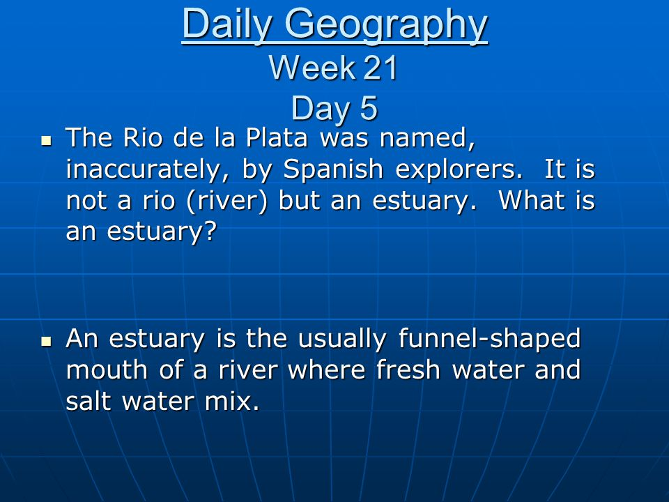 Daily Geography Week 21 Day 5