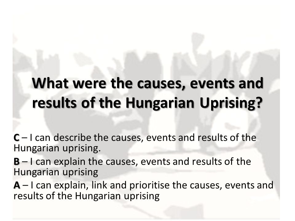 What were the causes, events and results of the Hungarian Uprising