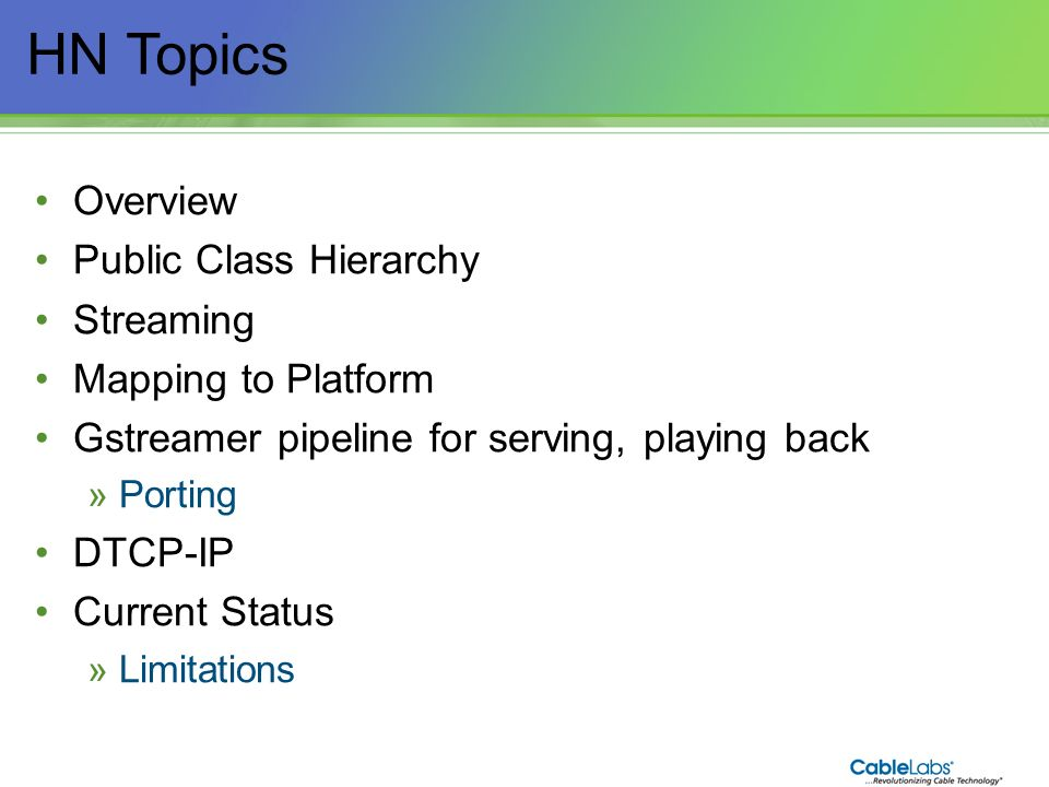 HN Topics Overview Public Class Hierarchy Streaming
