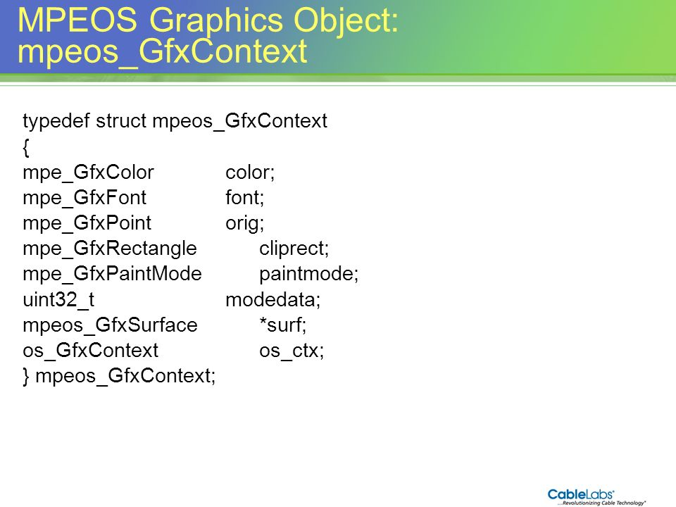 MPEOS Graphics Object: mpeos_GfxContext