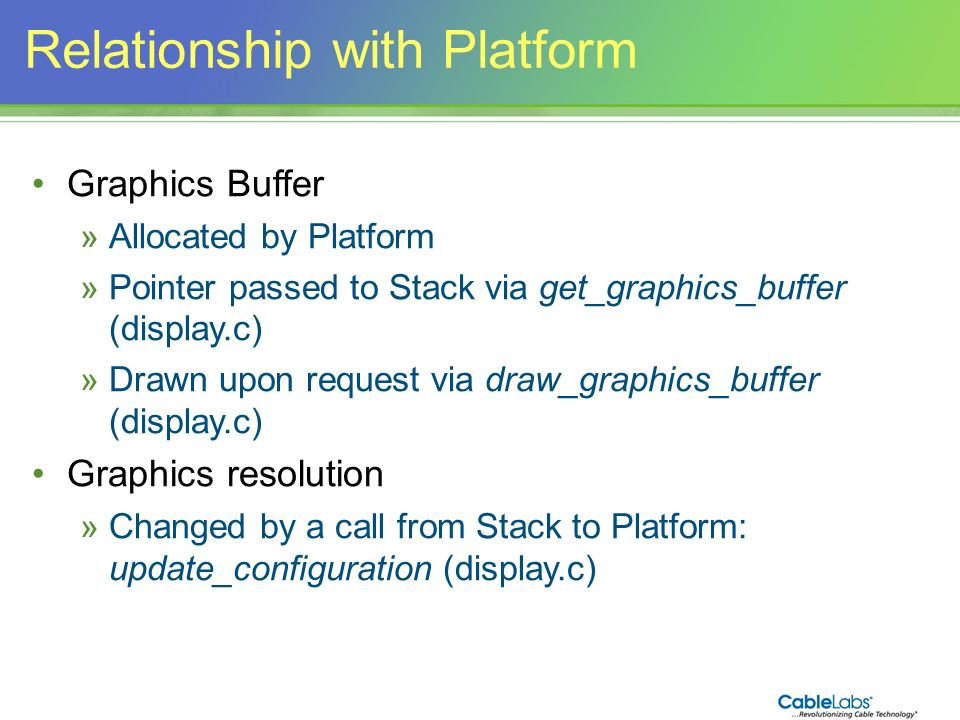 Relationship with Platform