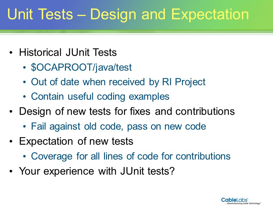 Unit Tests – Design and Expectation
