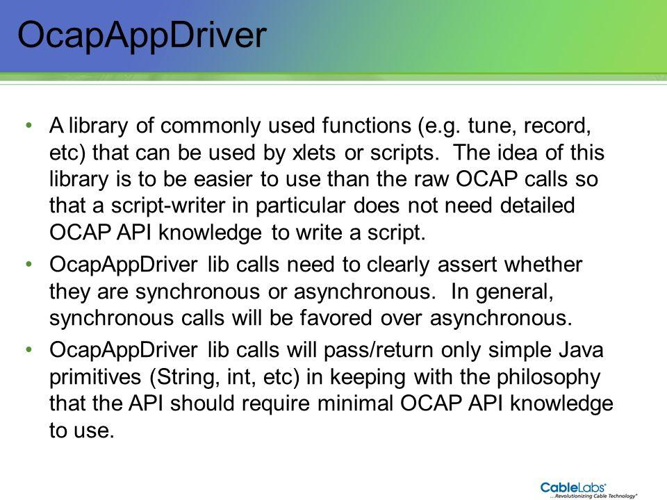 OcapAppDriver