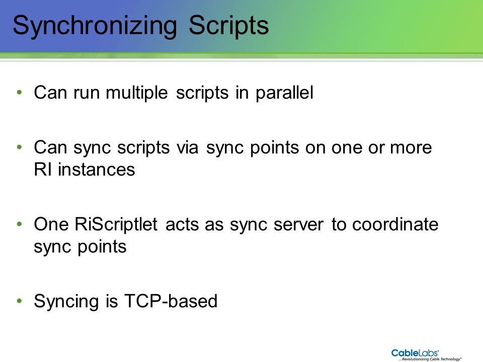 Synchronizing Scripts