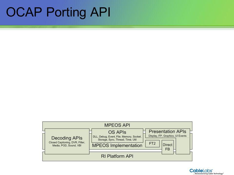 OCAP Porting API 37
