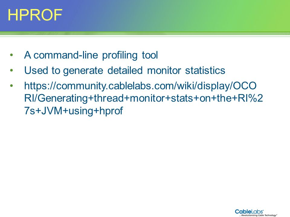HPROF A command-line profiling tool