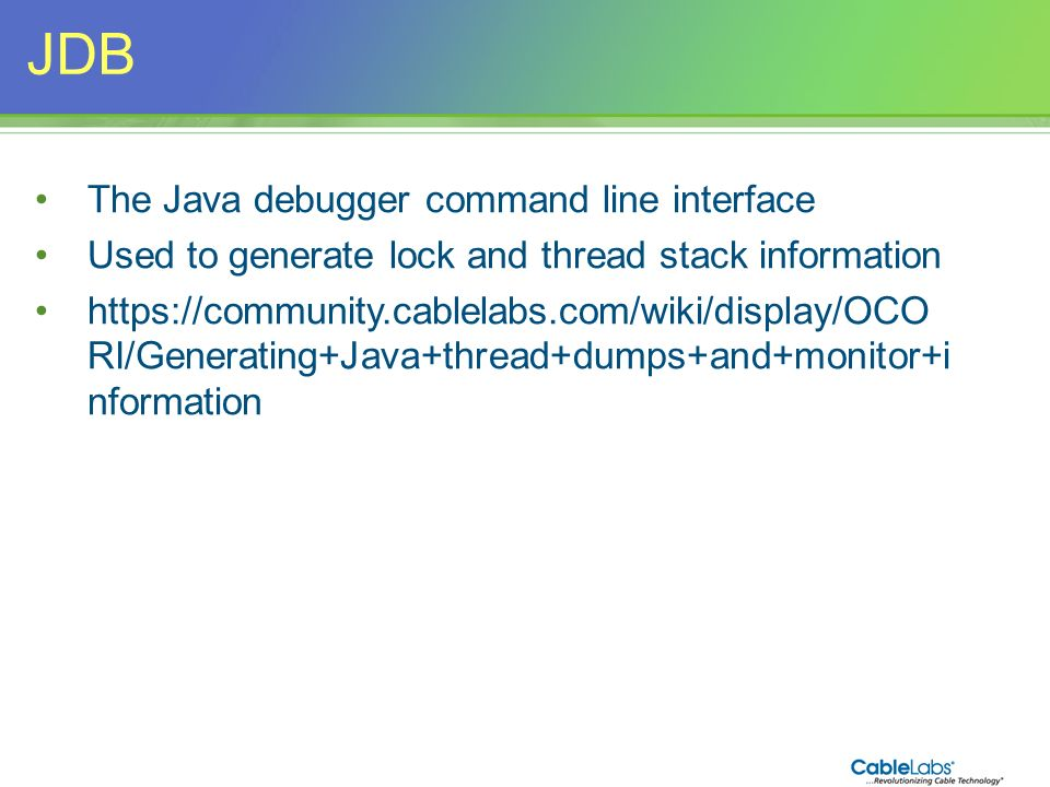 JDB The Java debugger command line interface