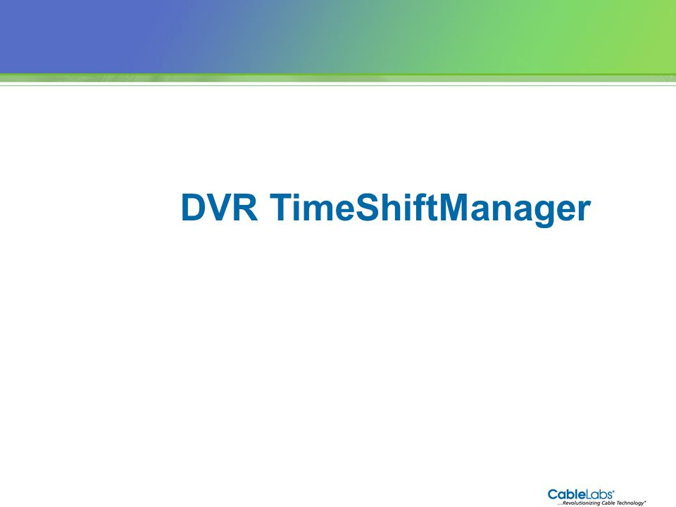 DVR TimeShiftManager 82