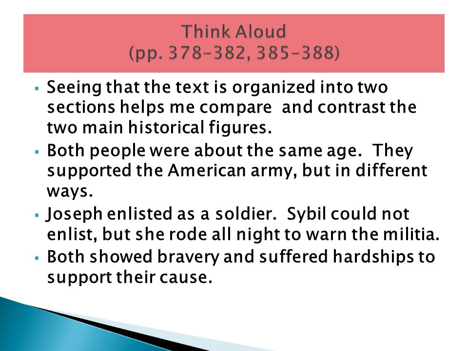 Think Aloud (pp. 378-382, 385-388)
