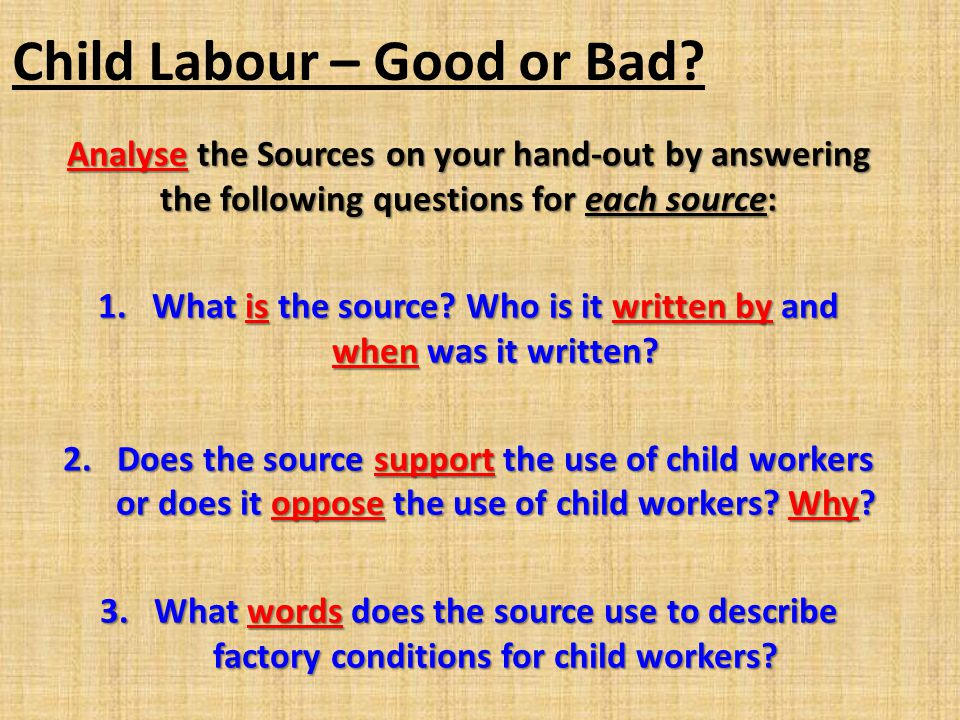 Child Labour – Good or Bad