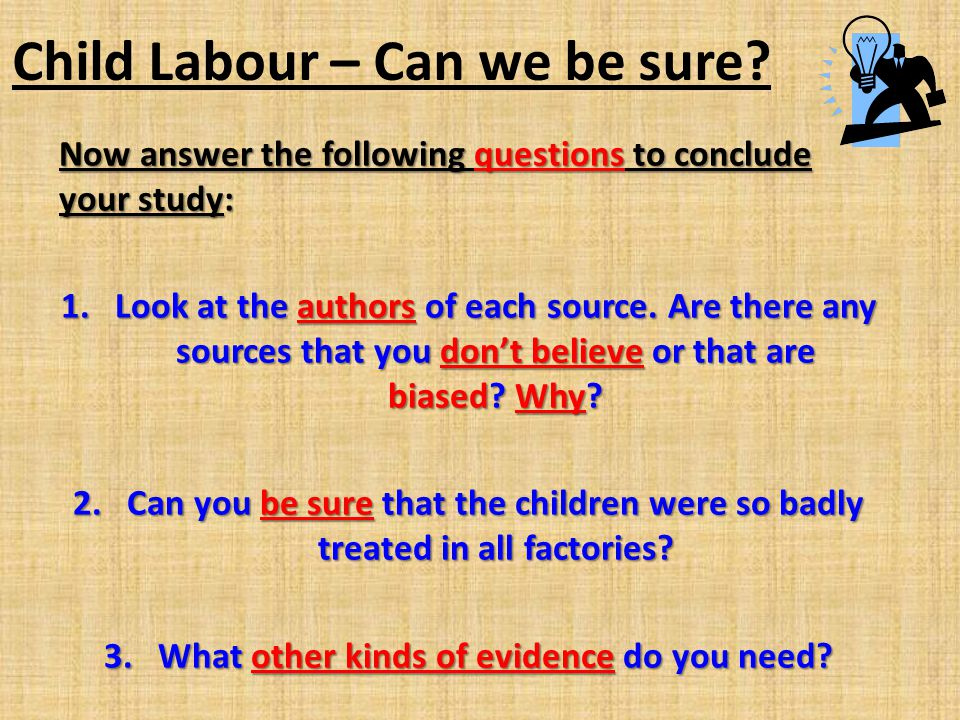 Child Labour – Can we be sure