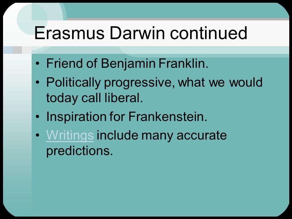 The Darwins Erasmus Darwin ( ) Charles Darwin ( ) - ppt ...