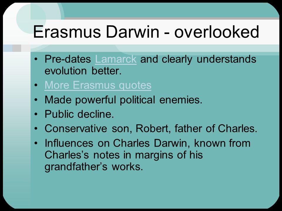 Erasmus Darwin - overlooked