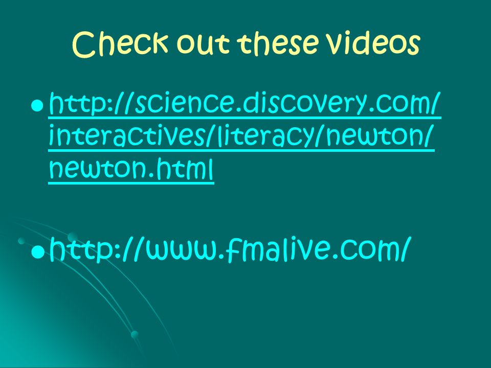 Check out these videos http://www.fmalive.com/