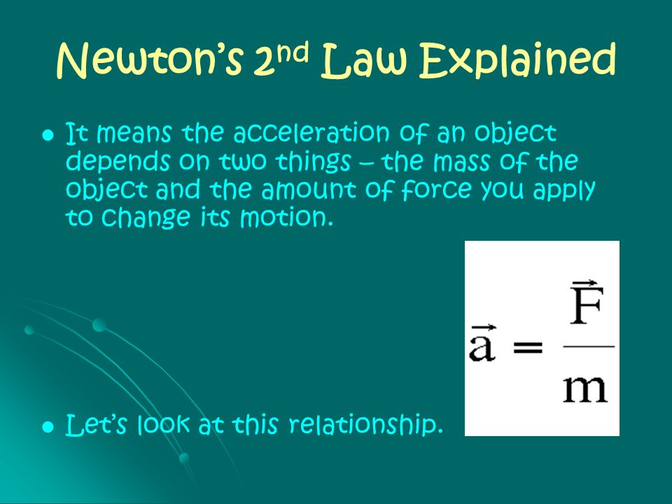 Newton's 2nd Law Explained